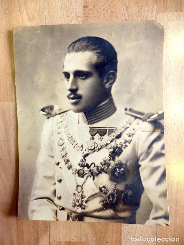 JAIME DE BORBÓN Y BATTENBERG , JAIME IV DE ESPAÑA JEFE CARLISTA, 26X34 CMS. (Militar - Fotografía Militar - Otros)