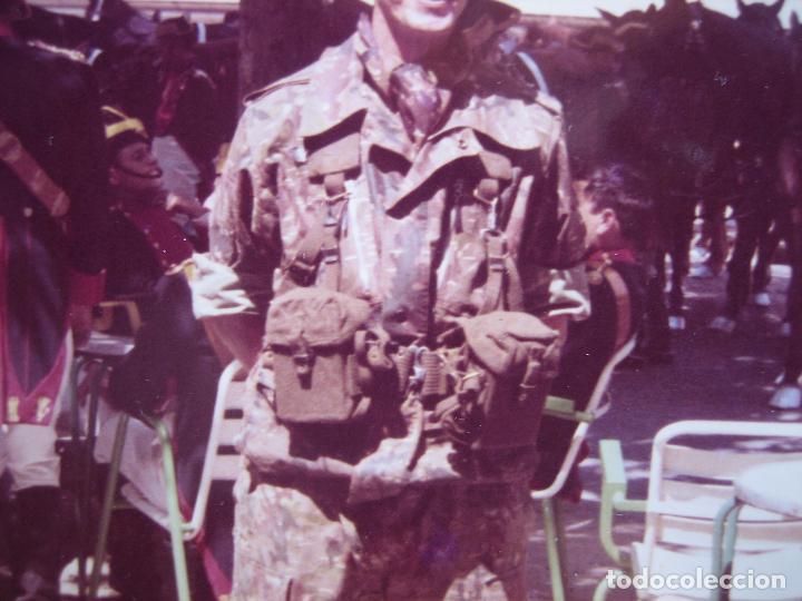 Militaria: Fotografía paracaidista Brigada Paracaidista BRIPAC. Traje de salto M-61 - Foto 3 - 89785520
