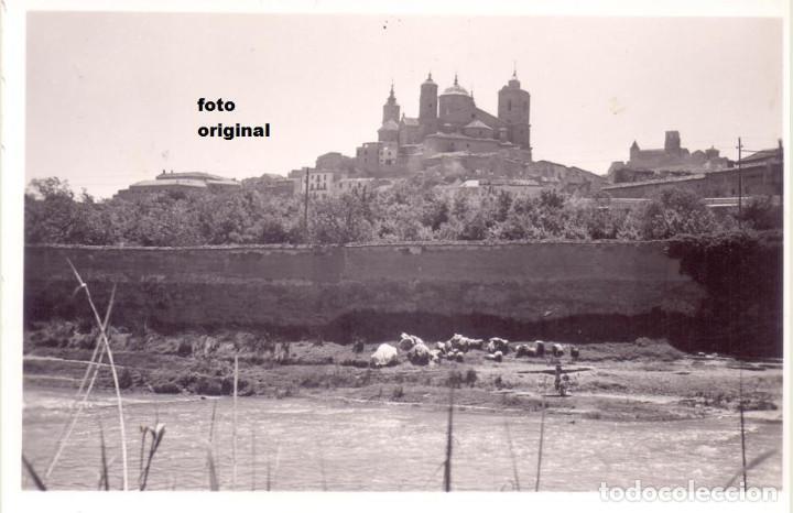 VISTA ALCAÑIZ(TERUEL) DESDE RIO GUADALOPE EPOCA GUERRA CIVIL LEGION CONDOR (Militar - Fotografía Militar - Guerra Civil Española)