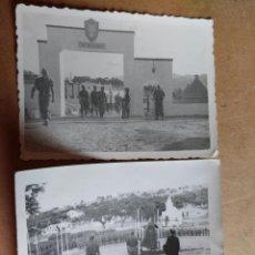 Militaria: PAREJA DE FOTOGRAFIAS DEL CUARTEL DE MONTEJARQUE EN RONDA (MALAGA), AÑOS 50. VISITA OBISPO DE MALAGA. Lote 90338740