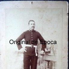 Militaria: (JX-170621)FOTOGRAFIA DE SOLDADO DE ARTILLERÍA REG.Nº 2,EPOCA ALFONSINA,MEDIDAS 11,00 X 17,00 CM.. Lote 90421679