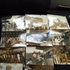 Militaria: LOTE 11 FOTOGRAFÍAS FRANCO Y JUAN CARLOS CAUDILLO Y REY DE ESPAÑA EN MONTALBÁN 17,5X24 CM GRANDES. Lote 90760430