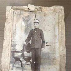 Militaria: ANTIGUA FOTOGRAFÍA MILITAR SOLDADO ÉPOCA ALFONSO XIII. Lote 90938235