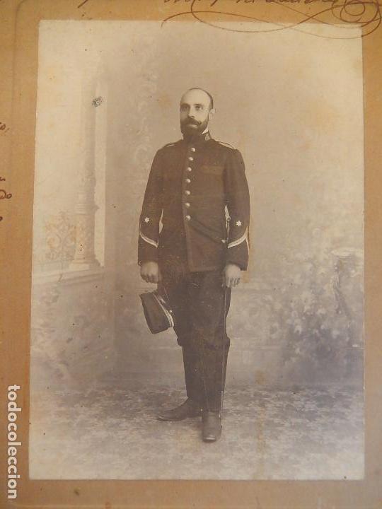 Militaria: Fotografía antigua de un militar español. - Foto 2 - 91886360