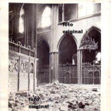Militaria: CATEDRAL BARCELONA DAÑADA BOMBARDEOS 1938 GUERRA CIVIL. Lote 91939925