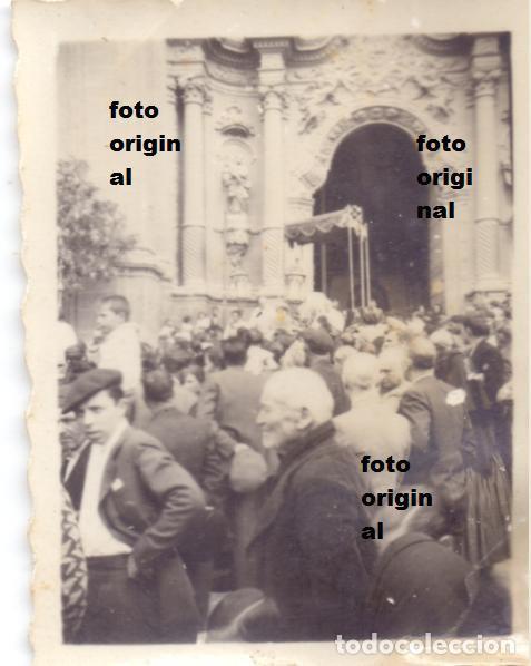 ALCANIZ (TERUEL)PROCESION LAS PALOMETAS IGLESIA SANTA MARIA 1938 GUERRA CIVIL (Militar - Fotografía Militar - Guerra Civil Española)