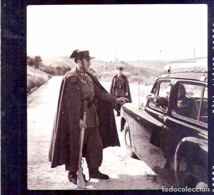 4 FOTOGRAFIAS ORIGINAL CONTROL GUARDIA CIVIL CONSTRUCCION VALLE DE LOS CAIDOS,TUMBA FRANCISCO FRANCO (Militar - Fotografía Militar - Guerra Civil Española)