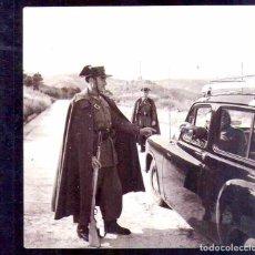 Militaria: 4 FOTOGRAFIAS ORIGINAL CONTROL GUARDIA CIVIL CONSTRUCCION VALLE DE LOS CAIDOS,TUMBA FRANCISCO FRANCO. Lote 92289425