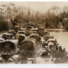 Militaria: FOTOGRAFIA II GUERRA MUNDIAL - DESEMBARCO DE PROVISIONES EN LAS ISLAS GREEN. Lote 92885285