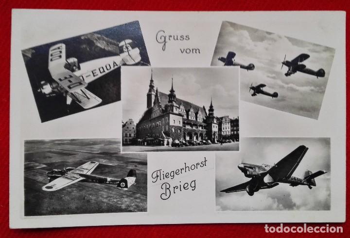 POSTAL DE LA SEGUNDA GUERRA MUNDIAL - WW2 - AVIONES NAZIS - GRUSS VOM - FLIEGERHORST BRIEG (Militar - Fotografía Militar - II Guerra Mundial)