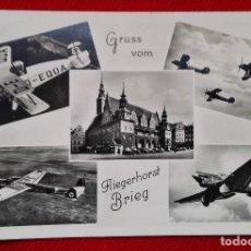 Militaria: POSTAL DE LA SEGUNDA GUERRA MUNDIAL - WW2 - AVIONES NAZIS - GRUSS VOM - FLIEGERHORST BRIEG . Lote 93173125