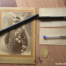 Militaria: LOTE DE FOTOGRAFIAS Y TARJETAS DE PRESENTACIÓN DE VETERANO DE LA GUERRA DE CUBA. ULTRAMAR.. Lote 93407405