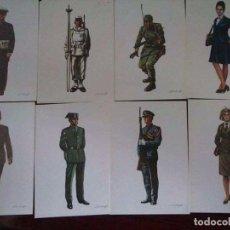 Militaria: 31 POSTALES DE UNIFORMES DE LAS FUERZAS ARMADAS. Lote 93624895
