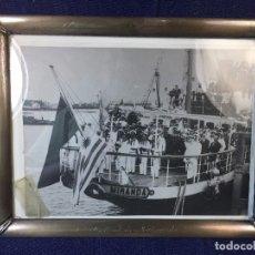 Militaria: FOTOGRAFÍA DEL BAUTISMO DEL BUQUE URUGUAYO CAPITAN MIRANDA MARCO PLATA LEY ASTILLERO MATAGORDA 1930. Lote 93770505