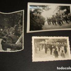 Militaria: BURGOS GENERAL MOLA DESFILES ESPOLON GUERRA CIVIL 3 FOTOGRAFIAS POR SOLDADO ALEMAN LEGION CONDOR . Lote 94169755