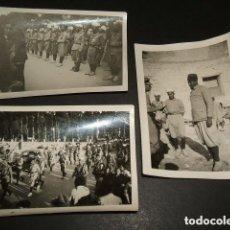 Militaria: BURGOS REGULARES MOROS GUERRA CIVIL 3 FOTOGRAFIAS POR SOLDADO ALEMAN LEGION CONDOR. Lote 94170220