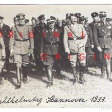 Militaria: HITLER Y ROHM EN HANNOVER EL AÑO 1933. Lote 94409178