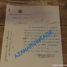 Militaria: MAIRENA DEL ALCOR, 1936, EXCLUSION DE MOZO REEMPLAZO, MEMBRETE AYUNTAMIENTO REPUBLICANO. Lote 94595115