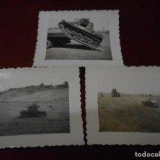 Militaria: LOTE DE 3 FOTOGRAFÍAS CARROS DE COMBATE GUERRA CIVIL.. Lote 94680339