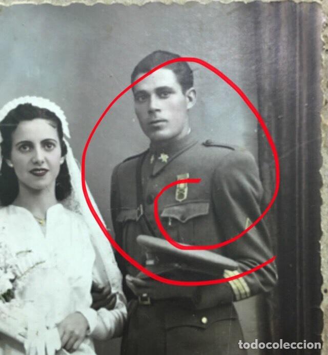 FOTO SARGENTO CON MEDALLA DE MUTILADO, GUERRA CIVIL. (Militar - Fotografía Militar - Guerra Civil Española)