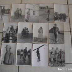 Militaria: LOTE DE 13 FOTOGRAFÍAS DEL BATALLÓN DE INSTRUCCIÓN DE RECLUTAS DEL SAHARA NÚMERO 1. C. 1970. Lote 95153583