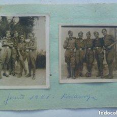 Militaria: GUERRA CIVIL : LOTE 2 FOTOS DE MILITARES NACIONALES . PEÑARROYA ( CORDOBA ), 1938.. Lote 95488659