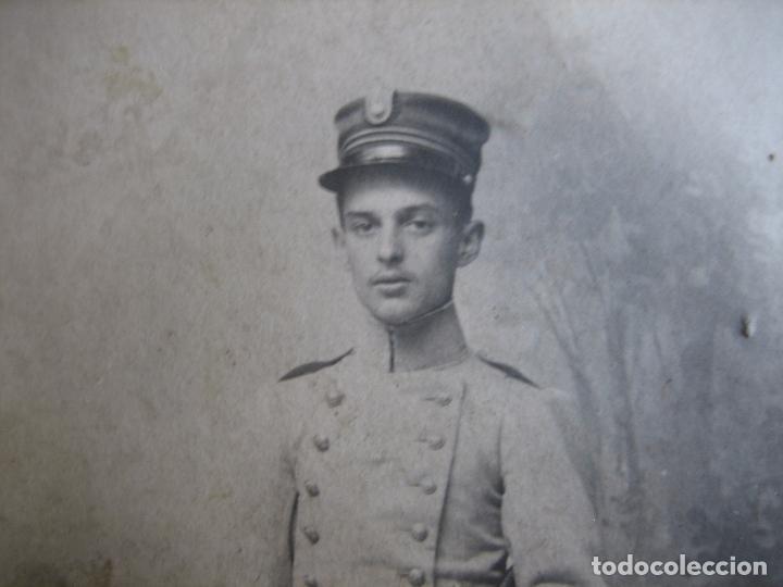 Militaria: Fotografía cadete del ejército español. Academia - Foto 3 - 95570643