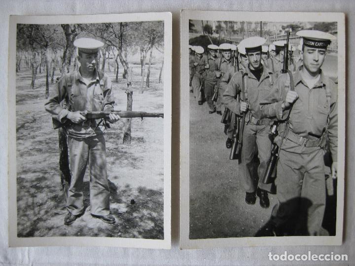2 FOTOGRAFIAS SOLDADOS INSTRUCCION CARTAGENA AÑO 1968 (Militar - Fotografía Militar - Otros)