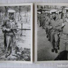 Militaria: 2 FOTOGRAFIAS SOLDADOS INSTRUCCION CARTAGENA AÑO 1968. Lote 95805199