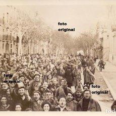 Militaria: ENTRADA REQUETES DE LA QUINTA DE NAVARRA EN TARRAGONA ENERO 1939 GUERRA CIVIL. Lote 95907179