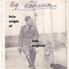 Militaria: SARGENTO CTV ITALIANO XXIII DE MARZO EN ALCALA DE EBRO FEBRERO 1938 GUERRA CIVIL. Lote 95907395