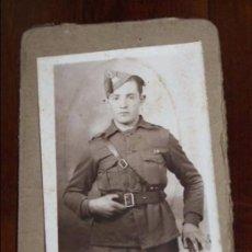 Militaria: FOTOGRAFIA DE SOLDADO REGIMIENTO INFANTERIA GALICIA 19. FOTO GALLEGO, JACA, MIDE 9,5 X 6,5 CMS.. Lote 95984687