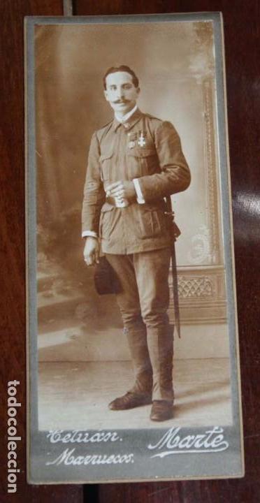 FOTOGRAFIA DE SOLDADO DEL REGIMIENTO DE INFANTERIA INMEMORIAL DEL REY N.1, TETUAN JULIO DE 1914, FOT (Militar - Fotografía Militar - Otros)