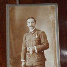 Militaria: FOTOGRAFIA DE SOLDADO DEL REGIMIENTO DE INFANTERIA INMEMORIAL DEL REY N.1, TETUAN JULIO DE 1914, FOT. Lote 95985675