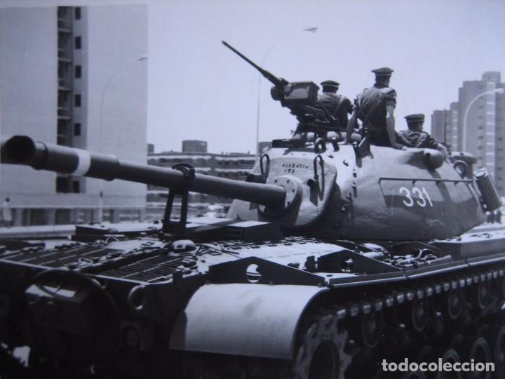 FOTOGRAFÍA CARRO DE COMBATE M-49 DEL EJÉRCITO ESPAÑOL. (Militar - Fotografía Militar - Otros)