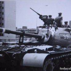 Militaria: FOTOGRAFÍA CARRO DE COMBATE M-49 DEL EJÉRCITO ESPAÑOL.. Lote 97940659