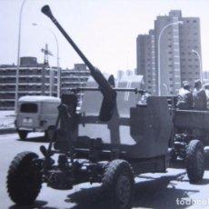 Militaria: FOTOGRAFÍA PIEZA ANTIAÉREA DEL EJÉRCITO ESPAÑOL.. Lote 96340647