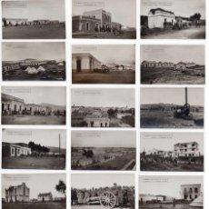 Militaria: LOTAZO DE 17 FOTOGRAFIAS POSTALES DE LA GUERRA DE ÁFRICA - ALFONSO XIII - NADOR 1921. Lote 96542235