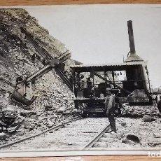 Militaria: FOTOGRAFIA COPIA DE LA PRIMERA GUERRA MUNDIAL,RECONSTRUCCION VIAS FERROCARRI FRANCIA.1918.. Lote 96804651