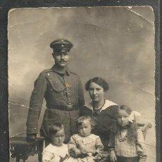 Militaria: ALEMANIA - 1ª GUERRA MUNDIAL - SOLDADO ALEMAN Y FAMILIA - ENTRAÑABLE FOTOGRAFIA -. Lote 96896007