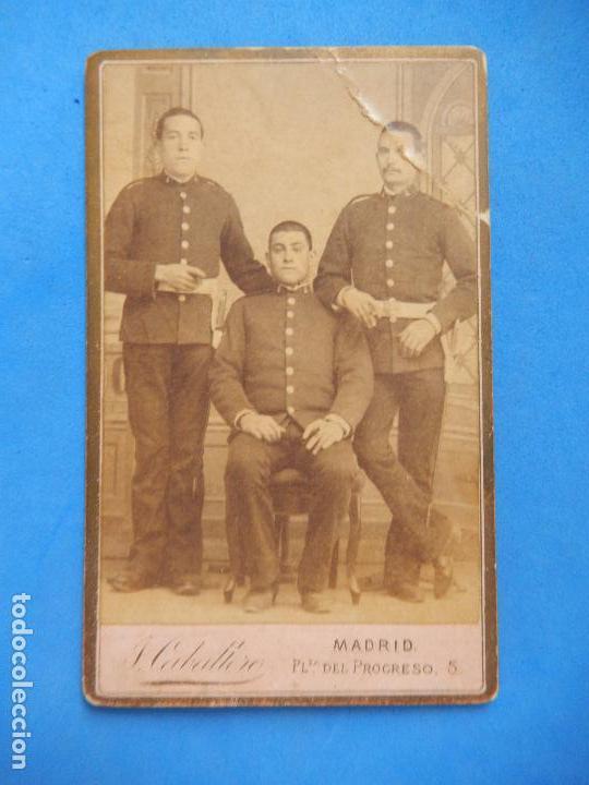 FOTOGRAFÍA MILITAR. SOLDADOS INGENIEROS. J. CABALLERO. MADRID. (Militar - Fotografía Militar - Otros)