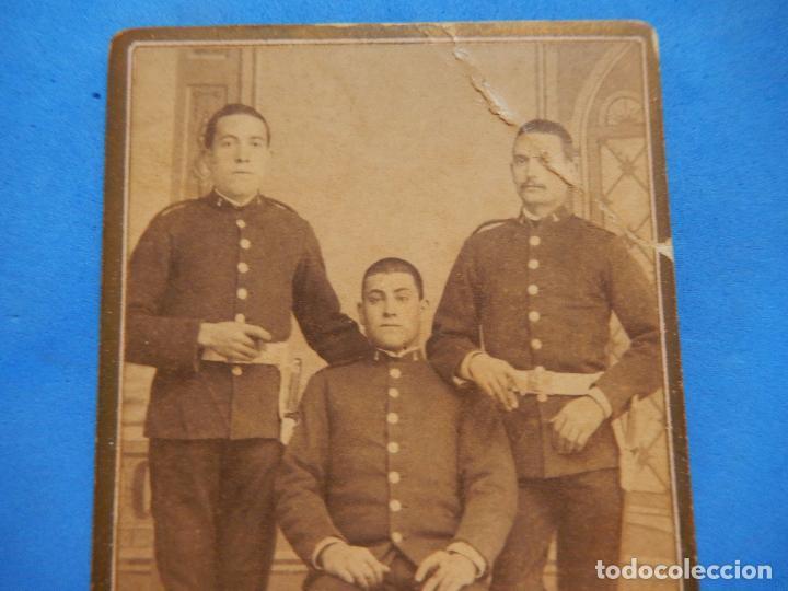 Militaria: Fotografía Militar. Soldados Ingenieros. J. Caballero. Madrid. - Foto 2 - 96993363