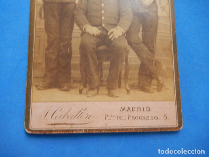 Militaria: Fotografía Militar. Soldados Ingenieros. J. Caballero. Madrid. - Foto 3 - 96993363