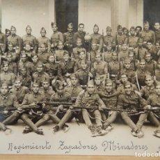 Militaria: SOLDADOS DE INGENIEROS. REGIMIENTO ZAPADORES MINADORES. 1ª COMPAÑÍA.. Lote 96997183