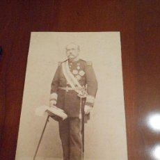 Militaria: FOTOGRAFÍA ORIGINAL DE GENERAL ÉPOCA ALFONSO XIII. Lote 97076651