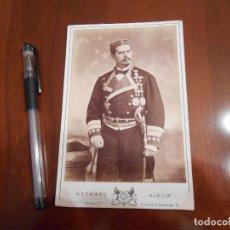 Militaria: FOTOGRAFÍA ORIGINAL DE UN CORONEL ÉPOCA ALFONSO XIII. Lote 97076843