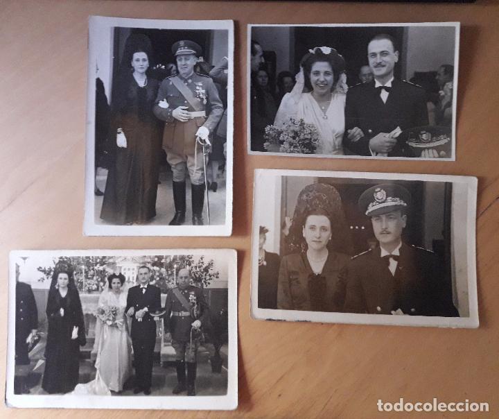 CORONEL EN UNA BODA Y OTRO UNIFORME A IDENTIFICAR-QUIRÓS- MADRID 1947 (Militar - Fotografía Militar - Otros)