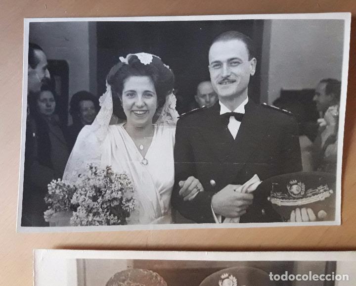 Militaria: Coronel en una boda y otro uniforme a identificar-Quirós- Madrid 1947 - Foto 5 - 97708623