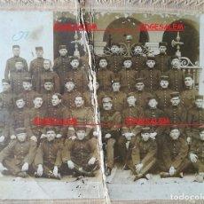 Militaria: FOTO ANTIGUA MILITAR , ALCANTARA 58 , BARCELONA 1915 1921 FOTOGRAFÍA INFANTERIA. Lote 97566023