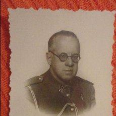Militaria: ANTIGUA FOTOGRAFIA.CORONEL JOSE GALLEGO GALLEGO.FOTO BARIEGO.MADRID.1946. Lote 98093239